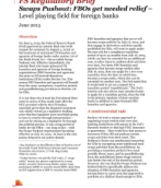 Swaps Pushout: FBOs get needed relief – Level playing field for foreign banks: PwC