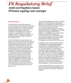 Anti-corruption Laws: Private Equity Not Exempt