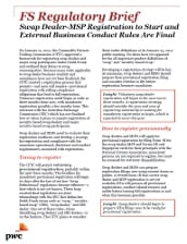 Final CFTC Rules Addressing Swap Dealer - MSP Registration and Business Conduct