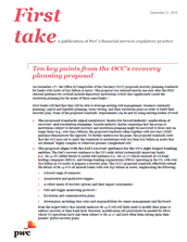 OCC's recovery planning proposal