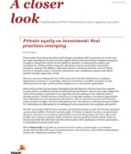 Private equity co-investment: Best practices emerging