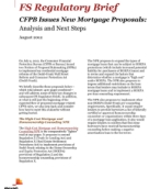 CFPB Issues New Mortgage Proposals: Analysis and Next Steps