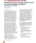 Dodd-Frank stress testing requirements for mid-sized financial firms: Highlights and insights
