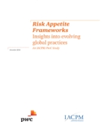 Risk Appetite Frameworks: Insights on evolving global practices