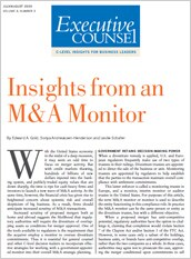Insights from an M&A monitor