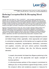 Reducing corruption risk by disrupting moral hazard
