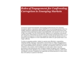 Rules of Engagement for Confronting Corruption in Emerging Markets