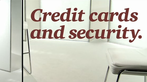 Credit cards and security.