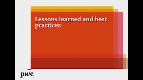 Lessons learned and best practices