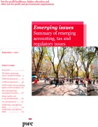 Emerging issues: Summary of emerging accounting, tax and regulatory issues in 2011