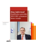 Healthcare provider 2013 SEC comment letter trends
