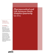 Pharmaceutical and Life Sciences Deals Insights Quarterly