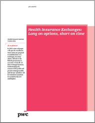 Health insurance exchanges: Long on options short on time