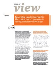 Emerging markets growth: The critical role of operations in driving competitive advantage