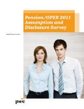 US human resource services: Pension/OPEB 2011 assumption and disclosure survey