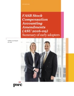 FASB Stock Compensation Accounting Amendments (ASU 2016-09) Summary of early adopters - Updated August 2016