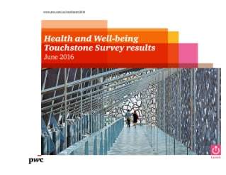 PwC's 2016 Health and Well-being Touchstone Survey results