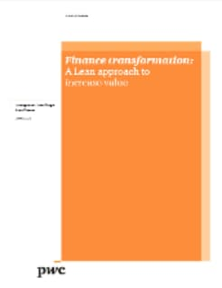 Finance transformation: A Lean approach to increase value