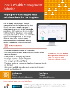 PwC's Wealth Management Solution powered by Salesforce Financial Services Cloud