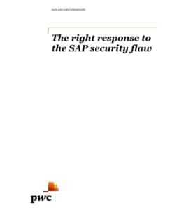 The right response to the SAP security flaw