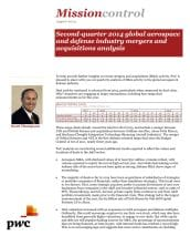 Mission control: First quarter 2013 global aerospace and defence industry mergers and acquisitions analysis