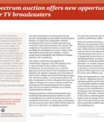 Spectrum auction offers new opportunities for TV broadcasters