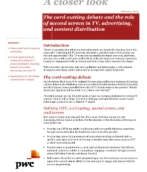 The cord-cutting debate and the role of second screen in TV, advertising and content distribution