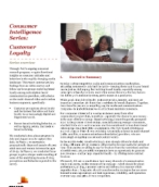 Consumer intelligence series: Customer loyalty