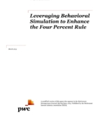 Leveraging behavioral simulation to enhance the four percent rule