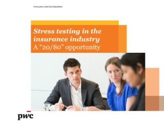 "Stress testing in the insurance industry: A ""20/80"" opportunity"
