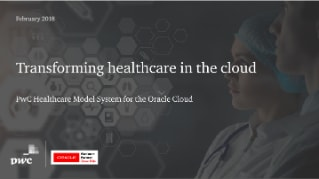 PwC's Healthcare Model Systems provides strategic transformational success