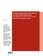 Driving high-performing shared services and outsourcing