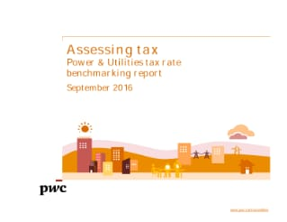 Assessing tax: Power & Utilities tax rate benchmarking report