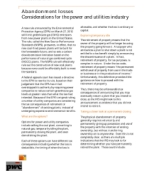 Abandonment losses Key considerations for Power & Utilities Executives