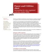 Power and Utilities Alert 2013-7: Accounting for rate-regulated activities under IFRS