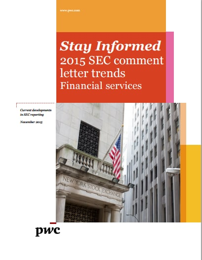 Financial Services: 2015 SEC comment letter trends