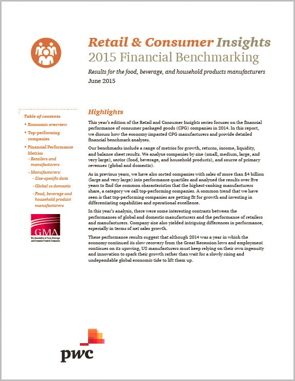 2013 Financial Performance Report: Growth strategies and the consumer