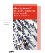 SEC comment letter trends for the Retail & Consumer Industry