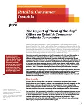 "The impact of ""Deal of the Day"" offers on retail & consumer products companies"