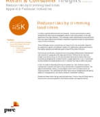 Retail and Consumer Insights: Reduce risks by trimming lead times Apparel & Footwear Industries