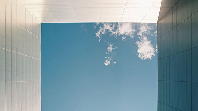 Image of the sky from below