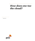 How does one tax the cloud?