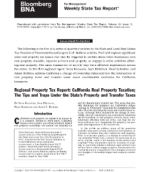 California real property taxation - Tips and traps of the state's property and transfer taxes