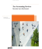 Income tax disclosure