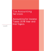 Accounting for Income Taxes: 2014 Year-end Hot Topics