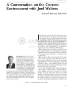 A conversation on the current environment with Joel Walters