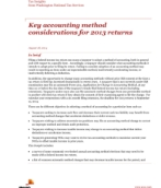 Key accounting method considerations for 2013 returns