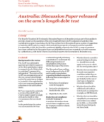 Tax Insights from Transfer Pricing: Australia: Discussion Paper released on the arm's length debt test