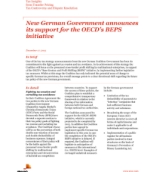Tax Insights from Transfer Pricing: New German Coalition Government in support of OECD's BEPS initiative