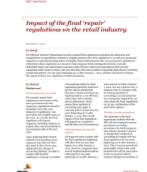 Tax Controversy and Regulatory Services: Impact of the final 'repair' regulations on the retail industry